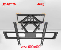 Universal 6 Arm Double Arm Full Motion 40kg 65inch 70inch Retractable Led Tv Wall Mount Lcd