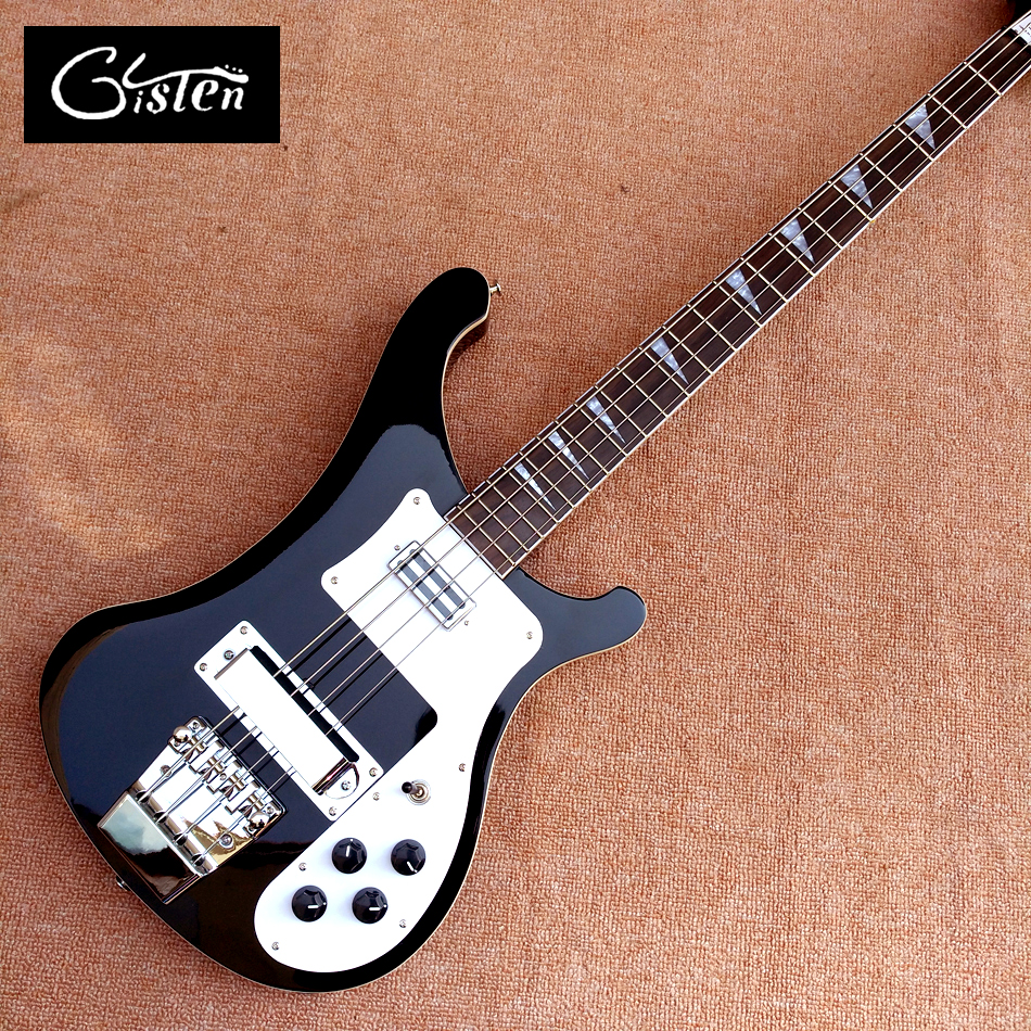 2017 Best Bass Top quality Rick 4003 model Ricken 4 strings Electric Bass guitar in black color, Chrome hardware, Free shipping free shipping 30inch children electric bass suitable for professional performance 30 inch bass goods in stock outstanding play