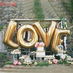 40 дюймов огромные надувные воздушные шары с надписью «LOVE» для свадьбы, помолвки, вечерние украшения на День святого Валентина, баллоны для в...