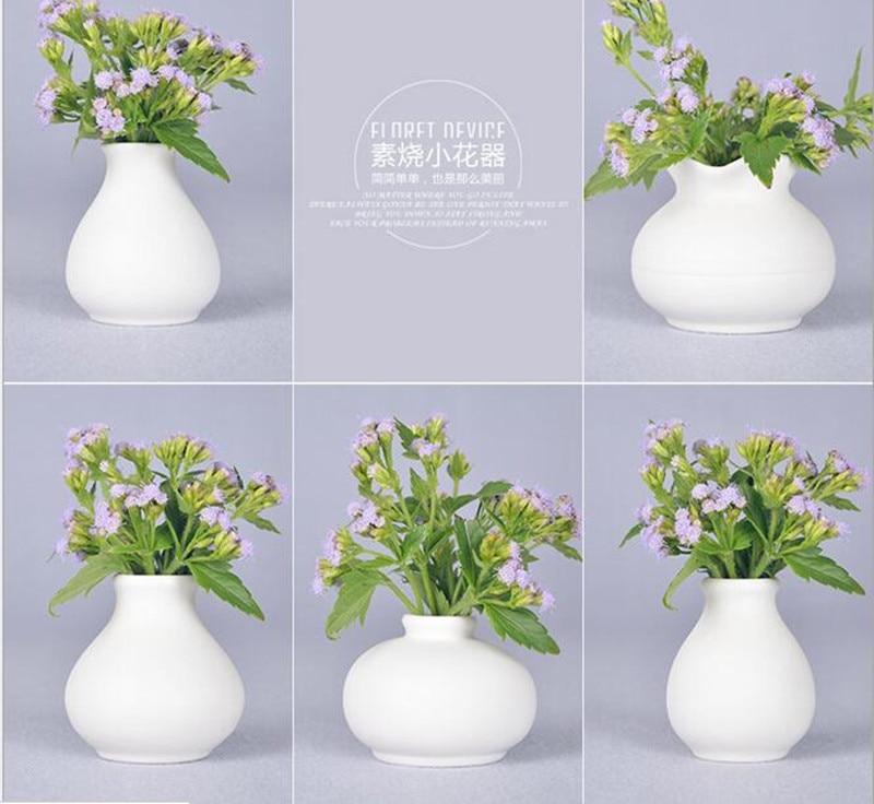 Fashion mini white ceramic flower vase for homes for Modern home decor vases
