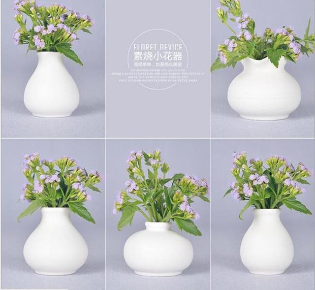 Fashion Mini White Ceramic Flower Vase For Homes Decorative Vases Home Decoration Modern Or
