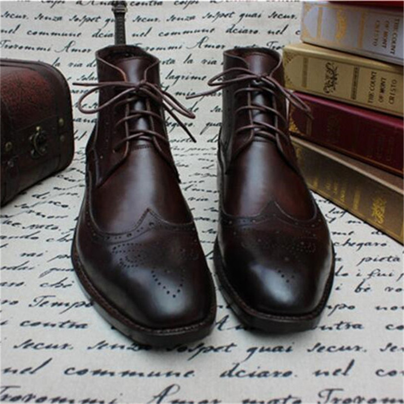 Ankle Boots Goodyear Couro De colorido Botas Multi Itália Handmade Classsic Estilos Maloneda Genuíno Brogue Aw0q11