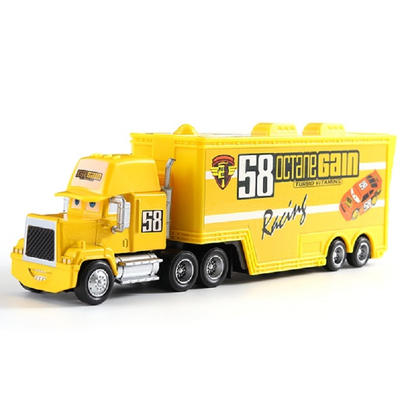 Cars Disney Pixar Cars Mack Uncle No.58 Octane Gain Racer's Truck Diecast Toy Car Loose 1:55 Brand New In Stock Disney Cars3