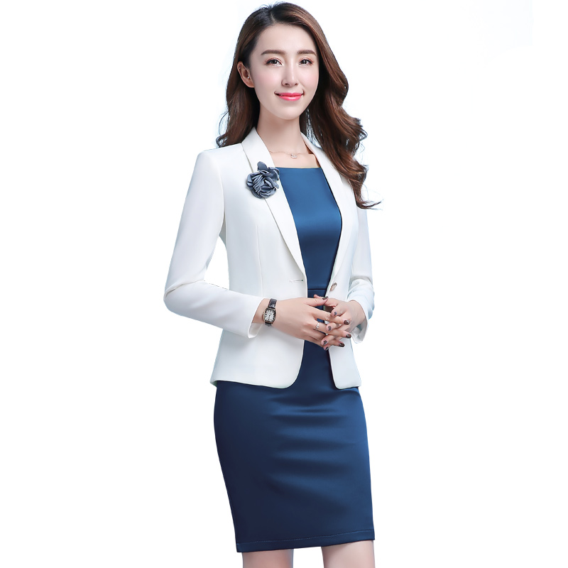 Professional Women white blazer 2018 New spring fashion clothes Business  formal jacket OL office lady plus size work wear-in Blazers from Women s  Clothing ... 8536cfc128a3