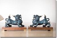 Принести в богатстве и сокровище # Office для дома комната деньги рисунок эффективные талисман-2 Ретро дракон пи Сю Фэн, латунь статуя