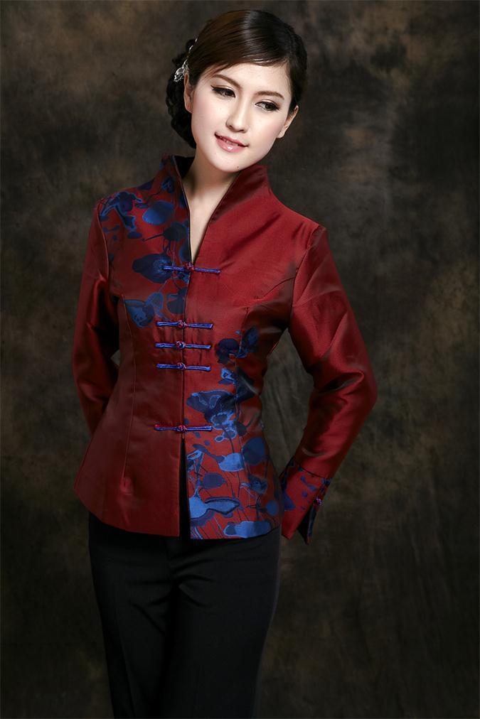 875a59874b Darmowa wysyłka Wiosna kurtka Chińskich kobiet Moda odzież Damska Kurtka  Żakiet Odzieży Tang Garnitur Rozmiar M L XL XXL XXXL TA10