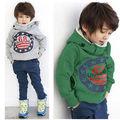Bebê Meninos Crianças Grosso Tops Brasão Hoodies Jacket Camisola Pulôver Outwear 2-7A