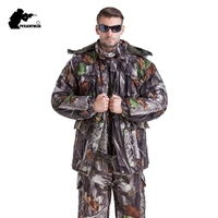 MULTICAM Uniform Winter Jungle Bionic Camouflage Tactical Suit Thicken Slim Fat Sniper Suit Hunting Waterproof Set L~4XL CF123