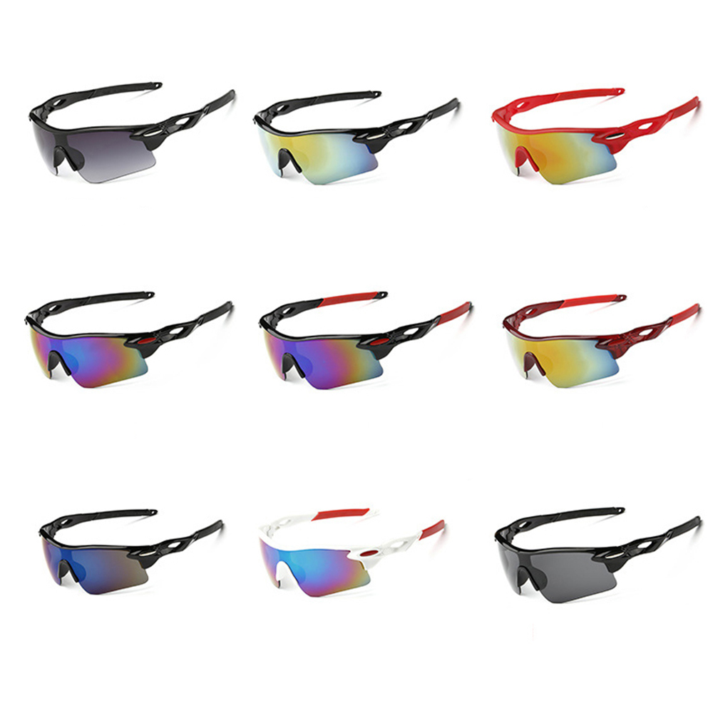 Cycling Sports Sun Glasses UV400 Outdoor Sport Windproof Eyewear Mountain Bike Bicycle Motorcycle Glasses Sunglasses carshiro k3589 outdoor sports motorcycle uv400 protection grey resin lens sunglasses black blue