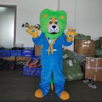 ohlees blue lion Mascot Costume Adult Size Outfit Plush Costumes Fancy Dress