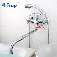 Frap Bathroom Faucet Mixer Waterfall Shower Panel Thermostat Faucet Mixer Tap Deck Mounted Dual Handle Bathtub