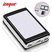 (No Battery) 30000mah Solar Power Bank Charger Powerbank DIY Kit Board Case 18650 Dual USB for Xiaomi Phone LED Pover Power Bank