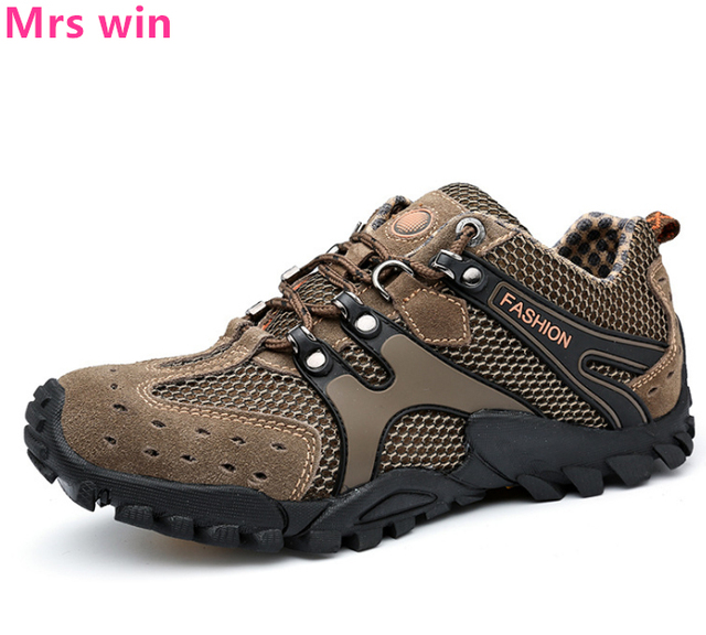 910d37caf3fd6 New Men's Balance Hiking Shoes Outdoor Tactics Camping Breathable Shoes  Sneakers Anti-skid Wear Low To Help Sport Shoes