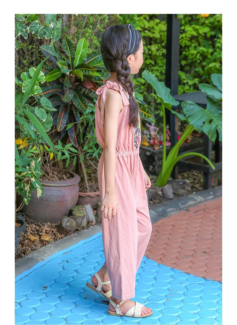 Pola Bunga Kid Girls Jumpsuit Musim Panas 2018 Semi Remaja Dress 1 5 Tahun Baju Anak Perempuan Lengan Buntung Lucu Tutu Pink Kemerahan Celana Tanpa Berwarna Merah Muda Biru Overall Gadis Pakaian Bayi4 6 7 8 9 10