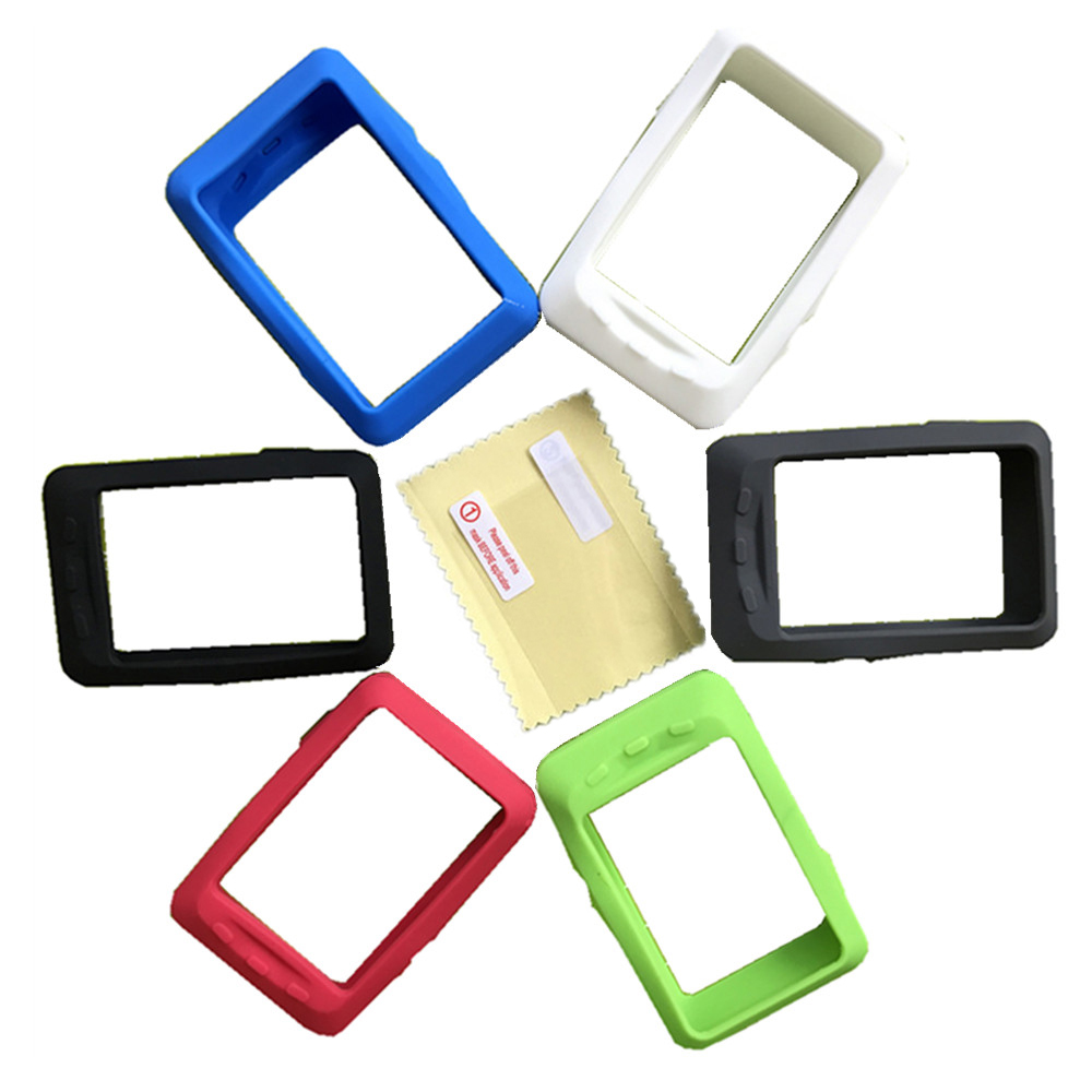 50pcs Bike Computer Silicone Rubber Protect Case LCD Screen Film Protector for Wahoo Elemnt Elemnt Bolt