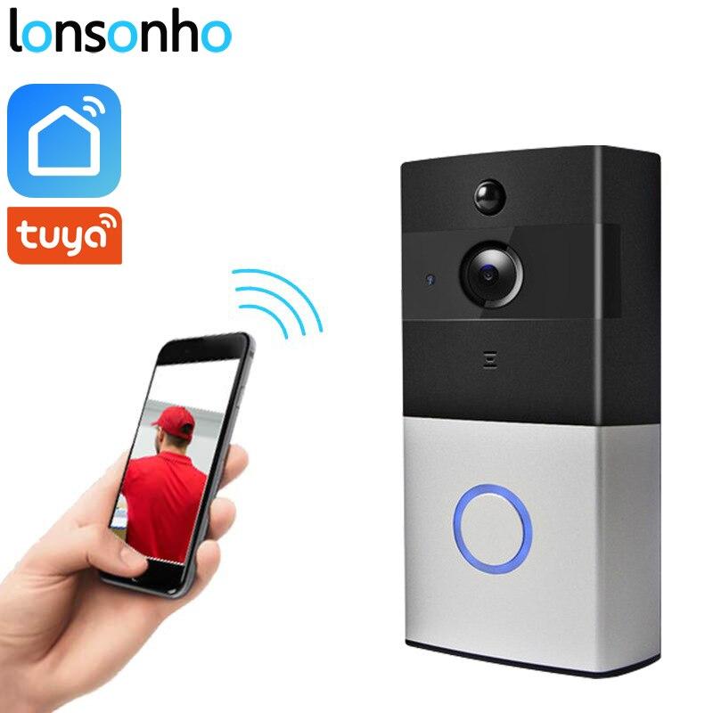 Lonsonho Wireless Smart Wifi Video Doorbell Intercom 2MP 1080P Camera Night Vision Pir Motion Sensor Tuya Smart Life App