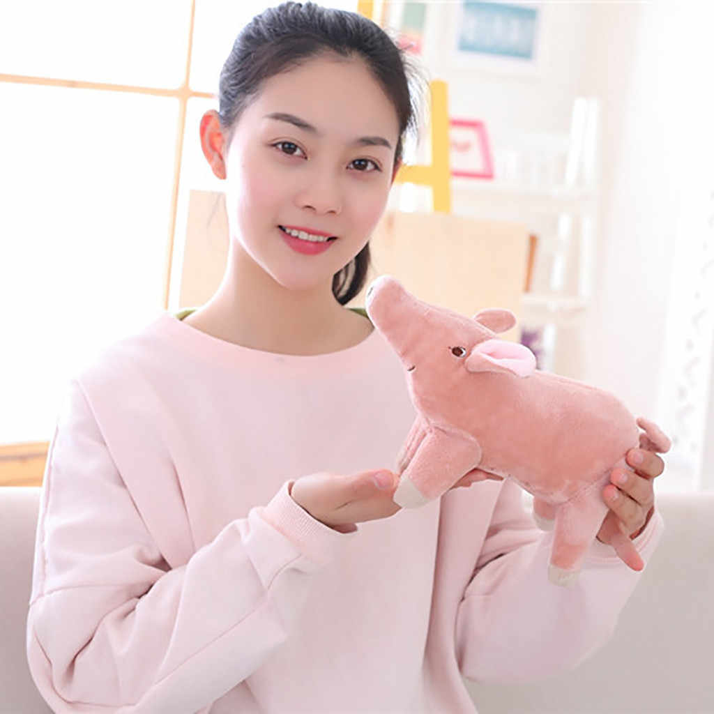 2019 recém chegados brinquedos bonitos brinquedo de pelúcia pigg porco dos desenhos animados acompanhar dormir animais de pelúcia brinquedos macios 25cm 5.24
