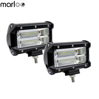 Marloo Car Accessories Led Light Bar 5Inch 72W 2 Rows Modified Off Road Lights Roof Light