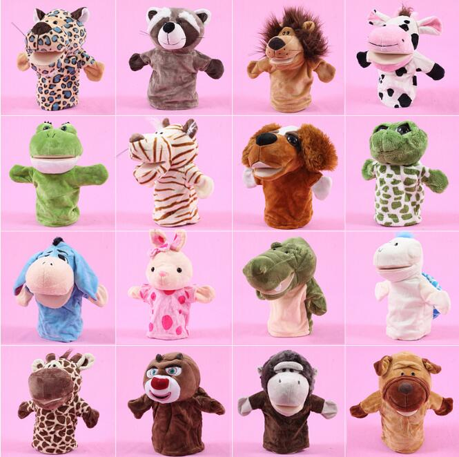 Plush Toy Hand Puppet Cartoon Animal Doll Mouth Active Kindergarten Parent-Child Interaction.
