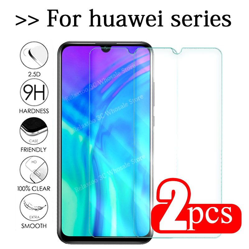 2pcs Tempered Glass For Huawei Honor 10i 8C 8X 8S P Smart 2019 Protective Glass On Honor 10 Lite Light Safety Screen Protector