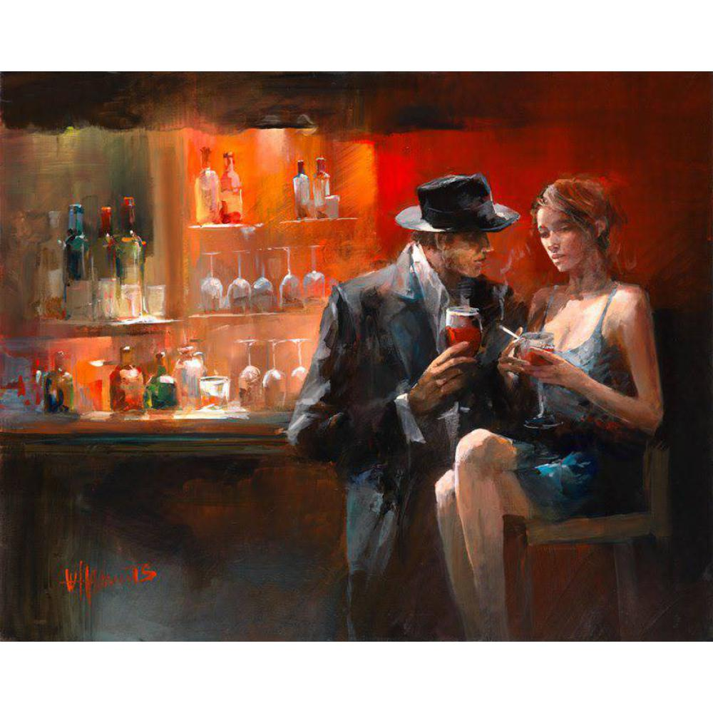 contemporary art oil paintings Couple in love at the bar Willem Haenraets painting on canvas hand painted High qualitycontemporary art oil paintings Couple in love at the bar Willem Haenraets painting on canvas hand painted High quality