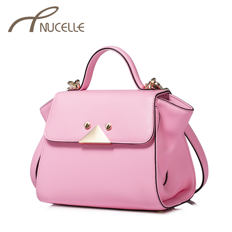 NUCELLE Women Split Leather Handbag Ladies Fashion Small Tote Wing Crossbody Purse Female Leather Shoulder Messenger Bag 1170829 women fashion tassel pu leather handbag shoulder bag small tote ladies purse comfystyle