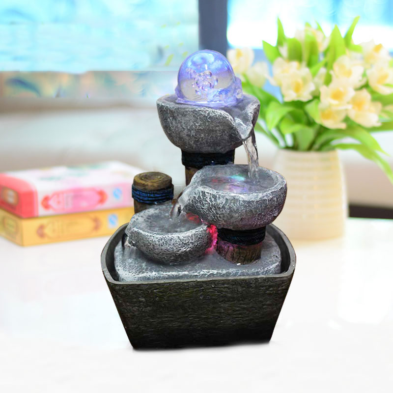 Decorative indoor water fountains resin crafts gifts feng for Water feature feng shui