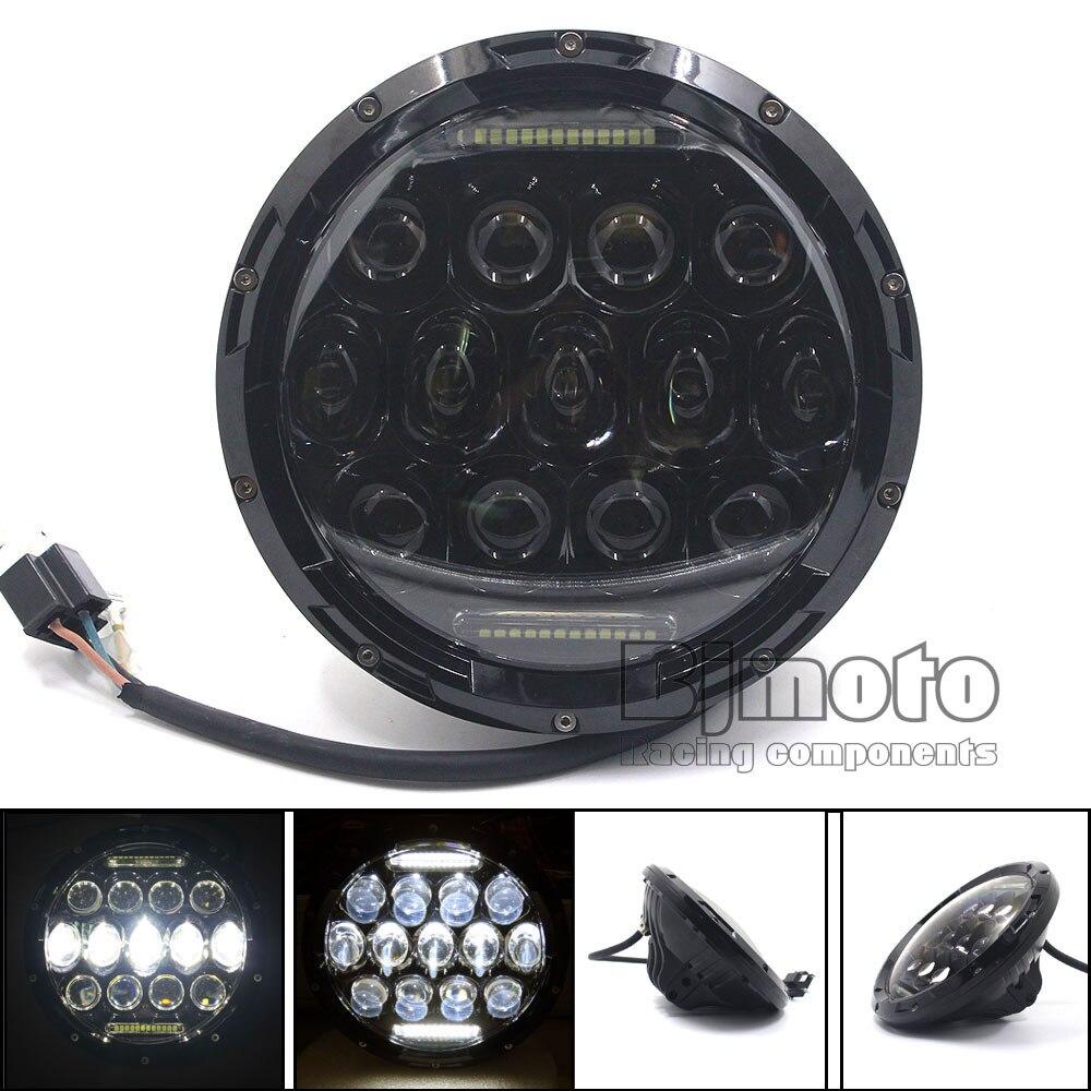 BJGLOBAL 1PCS 7Inch 75W LED Headlight H4 DRL Hi/Lo Beam For JEEP CJ JK TJ Wrangler Harley