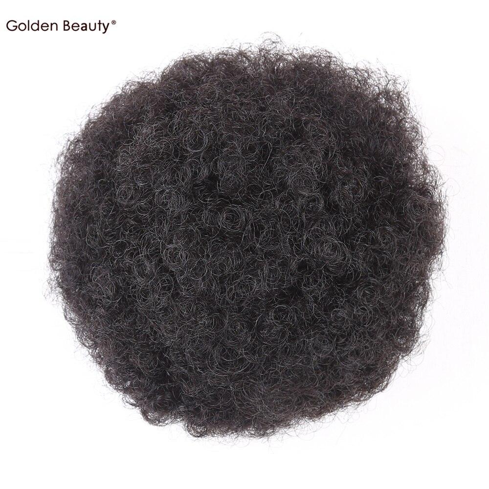 6 tums Elastiskt Net Curly Chignon Med Två Plastkombiner Updo Cover - Syntetiskt hår - Foto 5