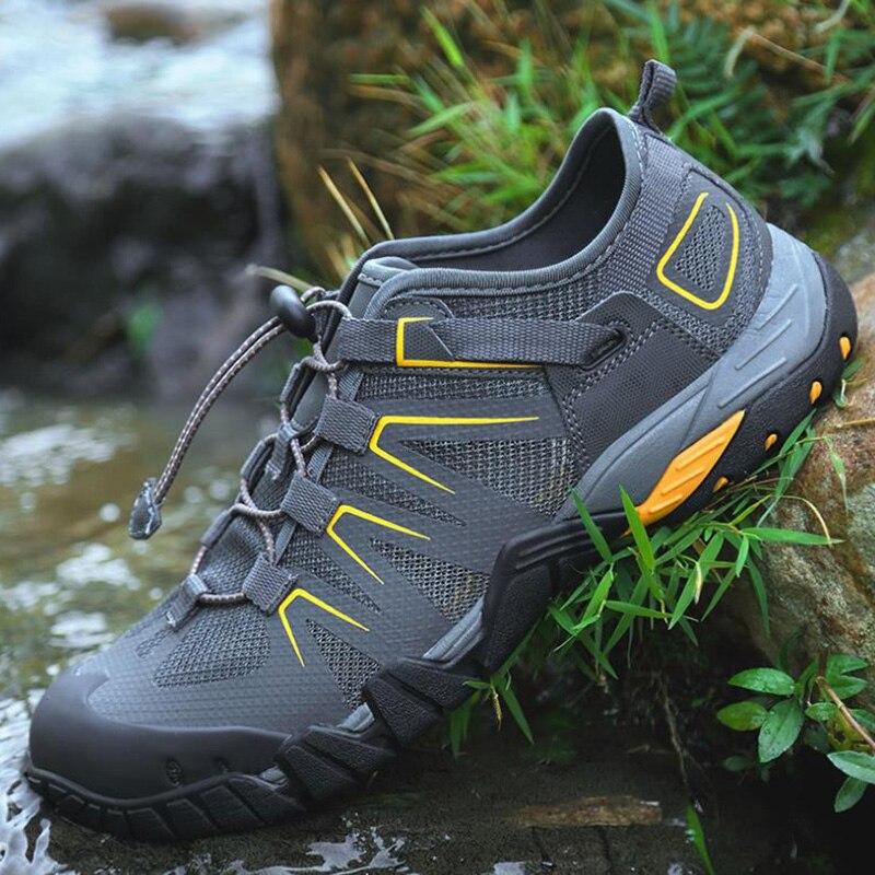Aqua chaussures été hommes respirant plage pantoufles chaussures en amont adulte femme natation sandales plongée chaussettes séchage rapide chaussures