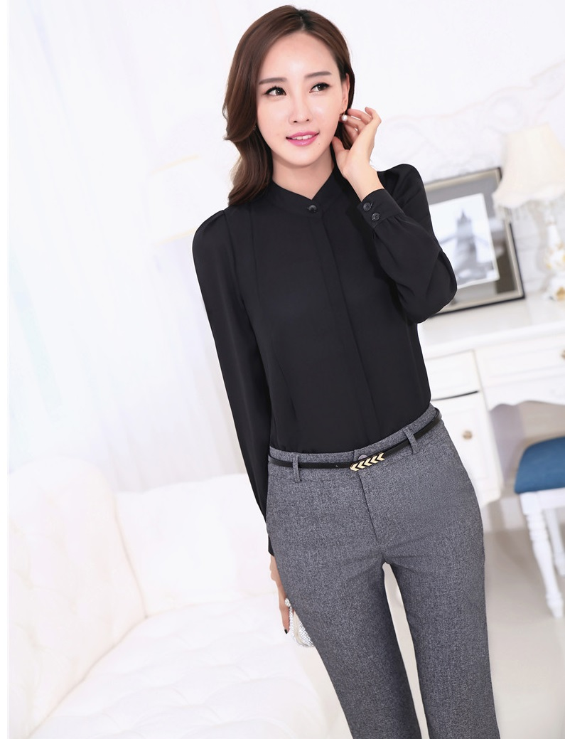 Unique  About Formal Office Business Women Solid Color Black Pantsblazer Suit