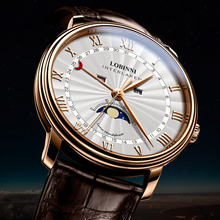 LOBINNI Men Watches Switzerland Luxury Brand Watch Men Sapphire Waterproof Moon Phase reloj hombre Japan Miyota Movement L3603M