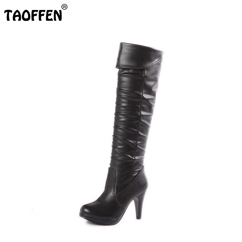 size 32 48 high heel knee boots fashion