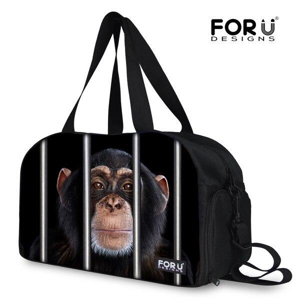FORUDESIGNS Funny Animal Men Women Boy Girl Large Bags Brand Designer  Travel Bag Cute Monkey Handbags Duffle Large Shoulder Bag ef63c27d5d