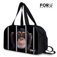 3e00e677c FORUDESIGNS Animal divertido hombres mujeres chico chica bolsas grandes de  marca de diseñador bolsa de viaje lindo mono Bolsos B..