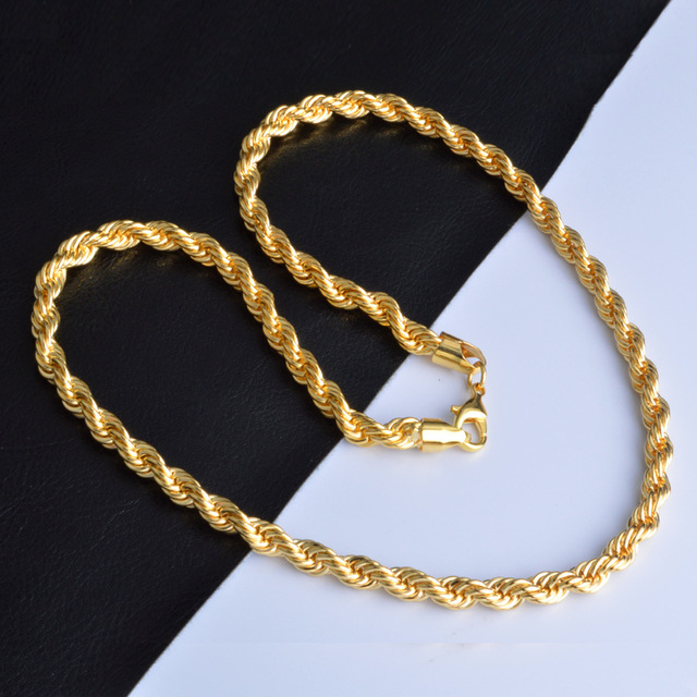 Silver Gold Chain Necklace...