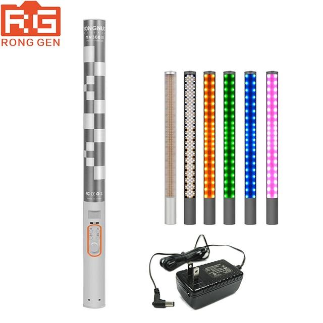 YONGNUO YN360II YN 360 II 3200 K 5500 K للتغيير RBG الملونة المحمولة LED الفيديو الضوئي مع المدمج في بطارية ليثيوم 5200mAh