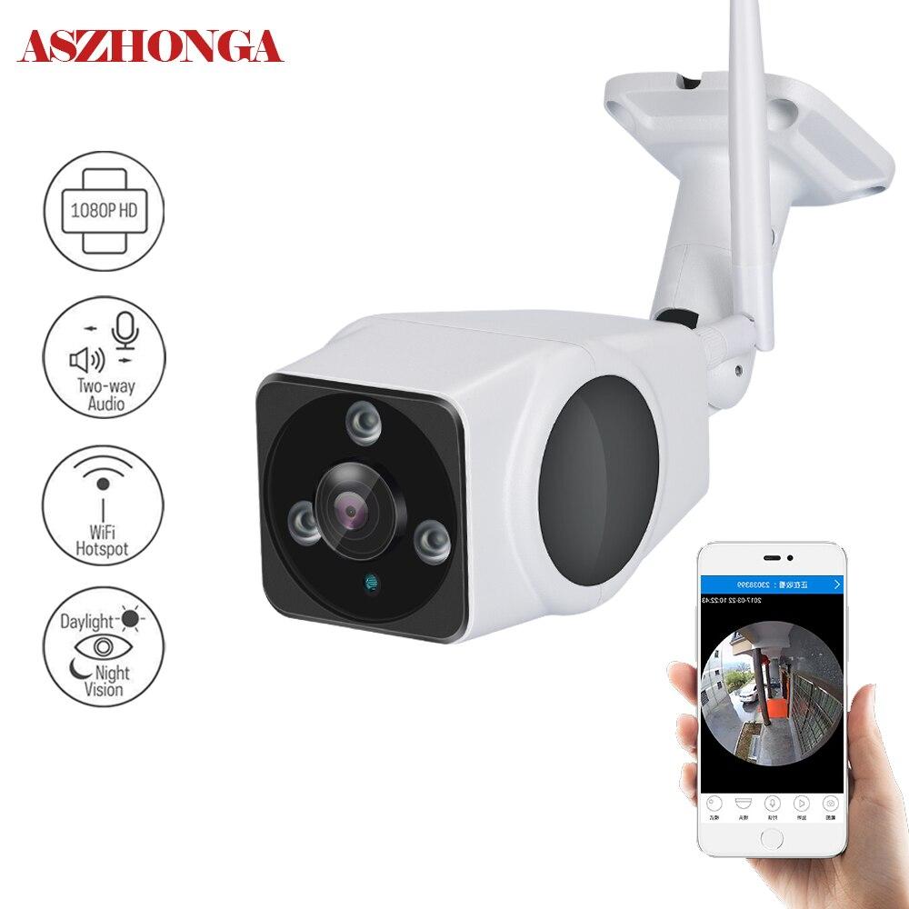 HD 1080 P Sans Fil Audio panoramique Caméra 2.0MP wifi de Sécurité bullet Caméra IR Nuit Vision IP66 Étanche surveillance CCTV Cam