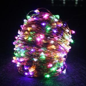Image 3 - 銅線 Led ストリングライト 10 メートル 20 メートル 30 メートル 50 メートル LED 屋外クリスマスの妖精ライトウォームホワイト星空ライト + アダプタ