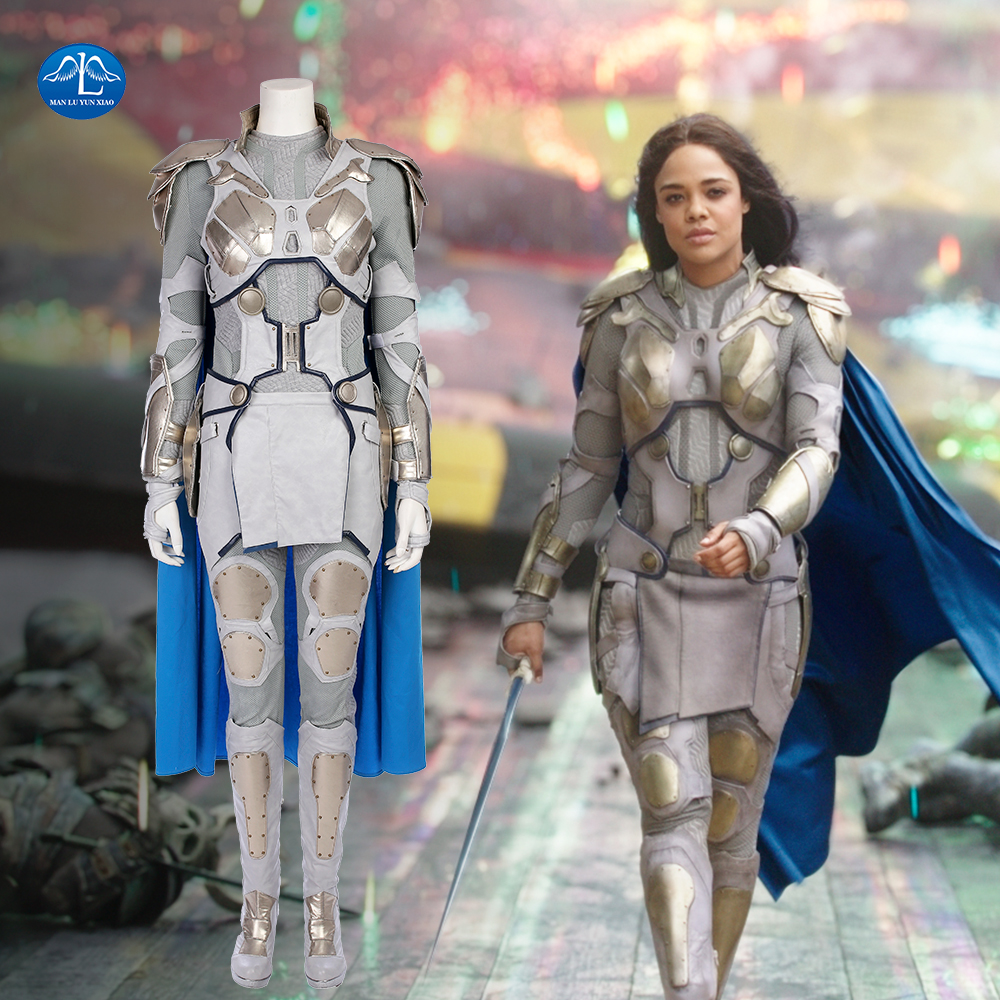 New Thor Ragnarok Valkyrie Cosplay Costume Women Movie Superhero Battle Suit Fancy Outfit Halloween Costumes For Women Full Set