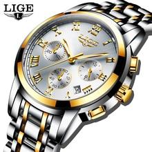 Relogio Masculino LIGE Men's Watches Business Luxury Brand Watch