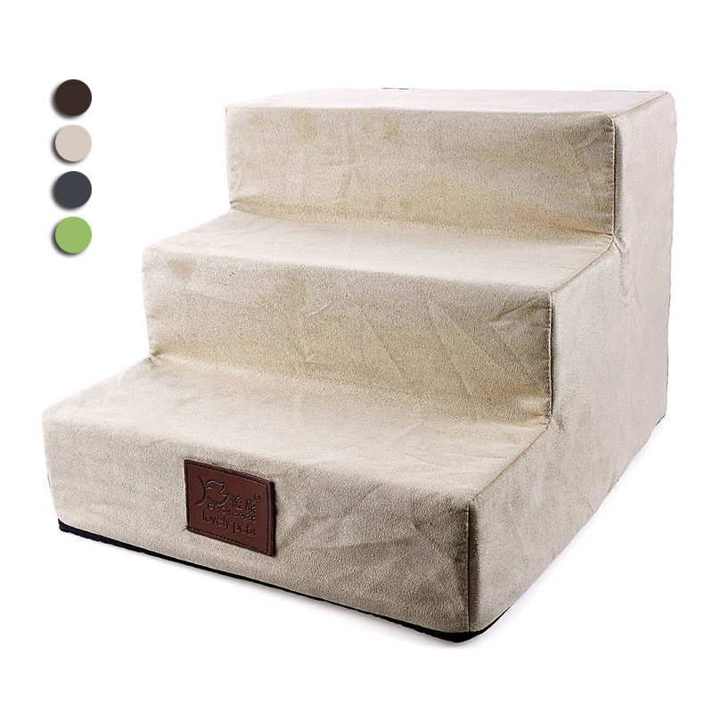 Pet Dog Stairs Steps for Dogs Anti-slip 3 Steps Ladder Puppy Cat Removable Puppy Bed Stairs Dog Steps House Pet Products