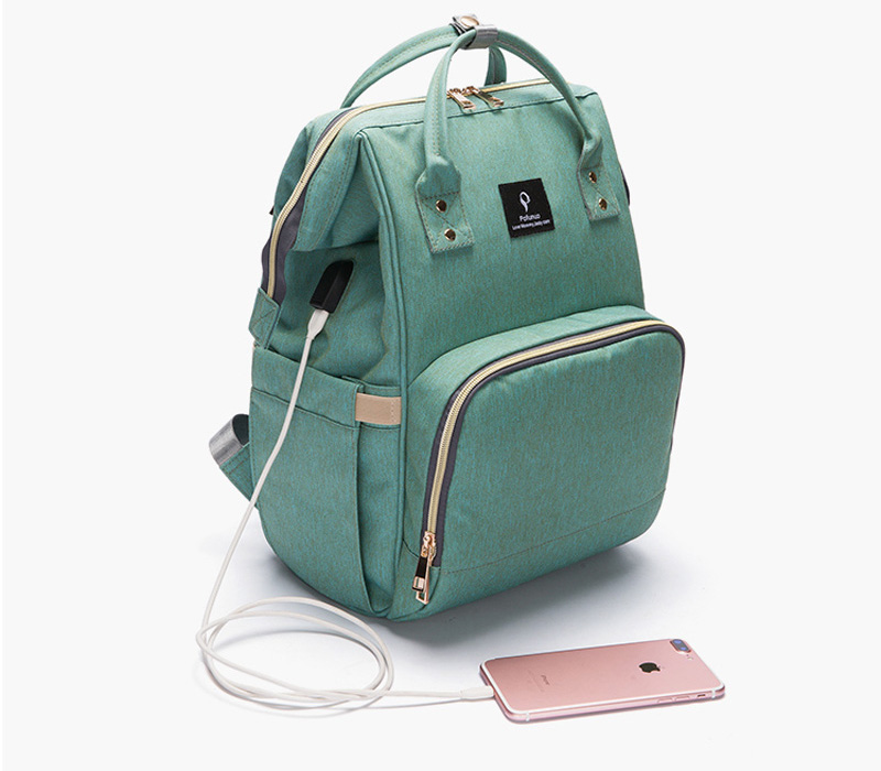 2018 Baby Diaper Bag With USB Interface Fashion Large Capacity Mummy Maternity Nappy Bag Travel Backpack Design Nursing Handbag insular 2017 new arrival fashion bohemian style mother bag baby nappy bags large capacity maternity mummy diaper bag 5pcs set