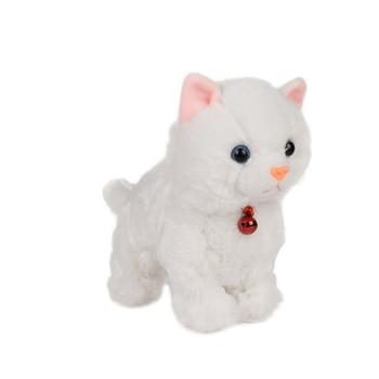 Suave electrónico mascotas de Control de sonido Robot gatos de pie animales eléctricos lindos juguetes interactivos gato de peluche juguetes de bebé para niños