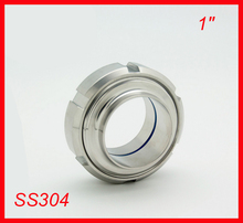"""100 sets New arrival 1"""" SS304 Stainless steel sanitary SMS welded union set connection for food industry Pipe-fitting"""