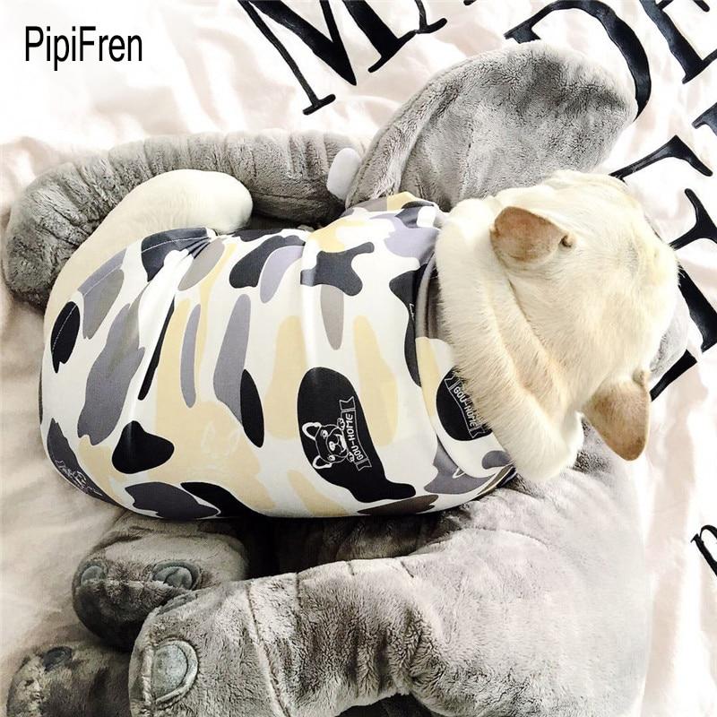 PipiFren Lente Zomer Hondenkleding T-shirts In het Frans Bulldog voor huisdieren Kleding Vest Pug Kleding Hond chemise chien hundeshirt