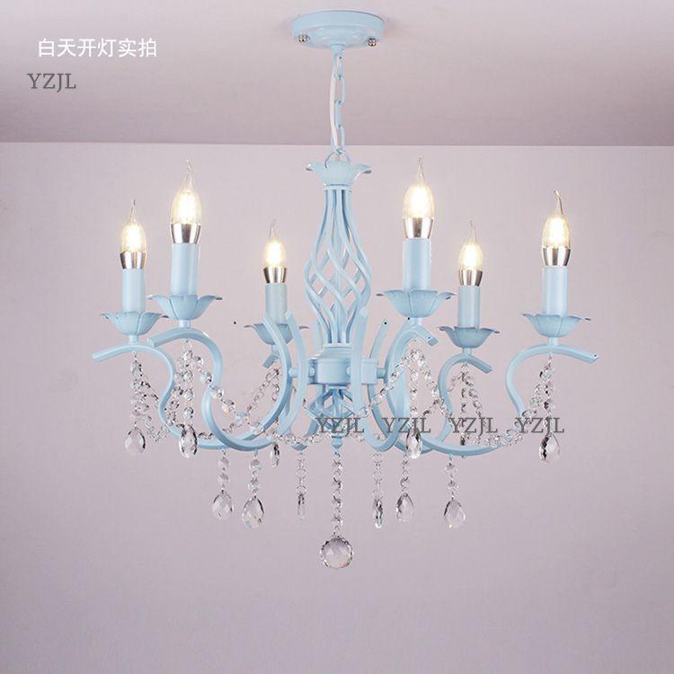 Cristal éclairage lustre lampe princesse rose fille romantique mariage jardin invité Restaurant chambre éclairage lustre cristal