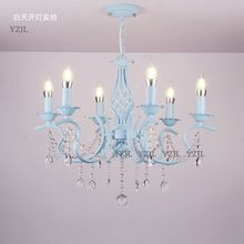 Crystal lighting chandelier lamp Princess pink girl romantic Wedding Garden Guest Restaurant bedroom crystal