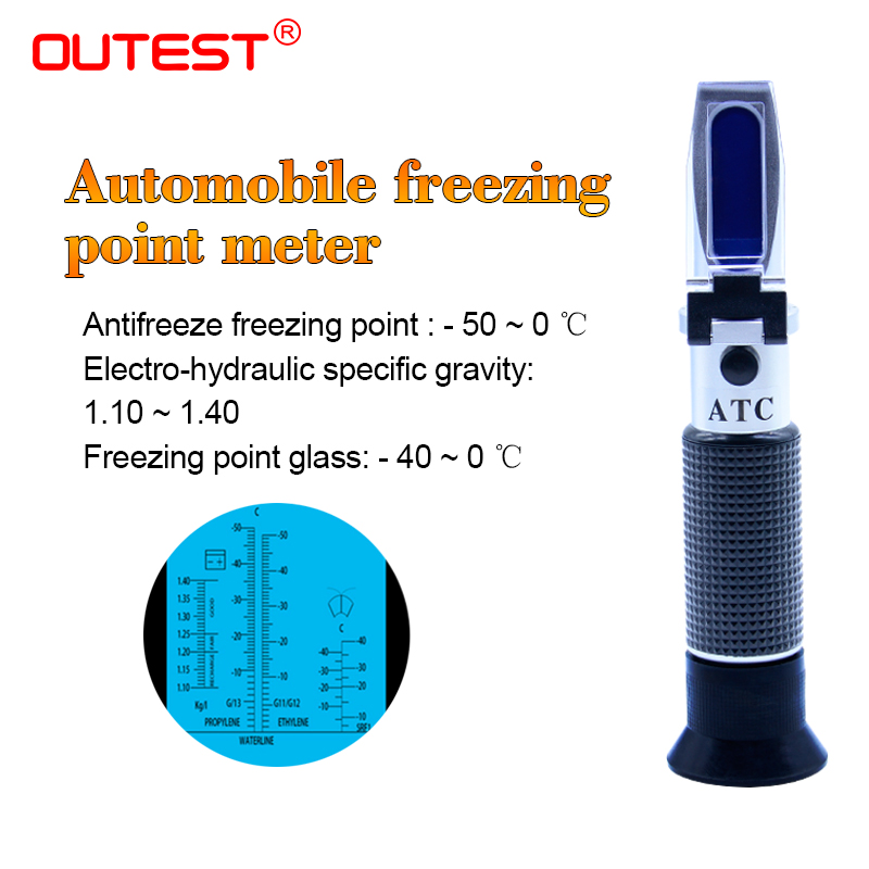 Refratometro Antifreeze tester Freezing Point meter Portable Freezing Point Freezing Point Detector refractometer RZ123 -50~0C atc aluminum refractometer tester glycol antifreeze liquid battery fluid
