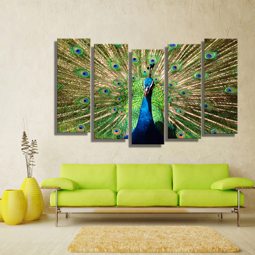Peacock Colors Living Room Online Get Cheap Peacock Artwork Aliexpresscom Alibaba Group